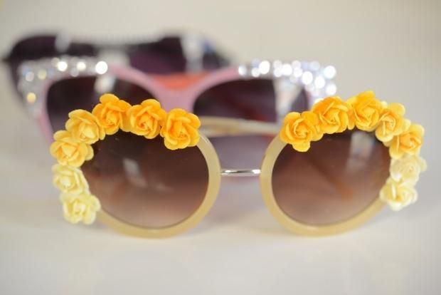 Grab your glue guns! Embellished sunglasses.
