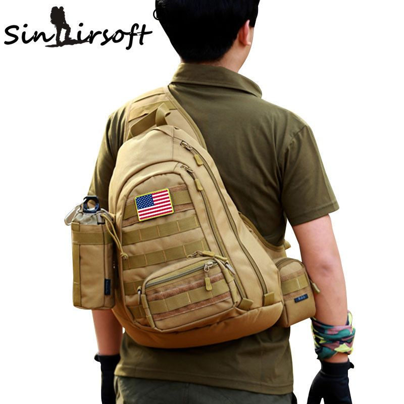 b9eadf4783cf Field Tactical Chest Sling Pack Outdoor Sport A4 One Single Shoulder Man  Big Large Ride Travel