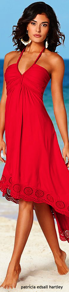 red short summer beach dress. women fashion outfit clothing style apparel @roressclothes closet ideas .