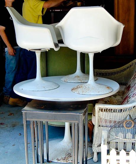 How I Red My Vintage Tulip Table And Shell Chairs Furniture Pinterest Chair