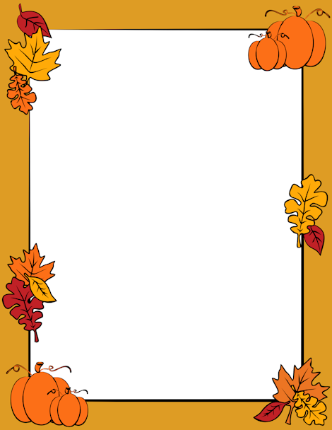 An autumn page border with fall - 64.0KB