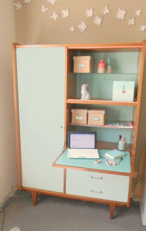 vintage replay mon nouveau bureau grosse r novation d. Black Bedroom Furniture Sets. Home Design Ideas