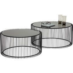 Couchtisch Wire Black 2 Set
