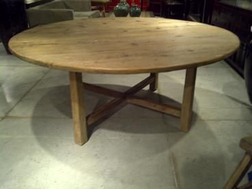 Rustic 72 Round Pine Dining Table Me Gardens