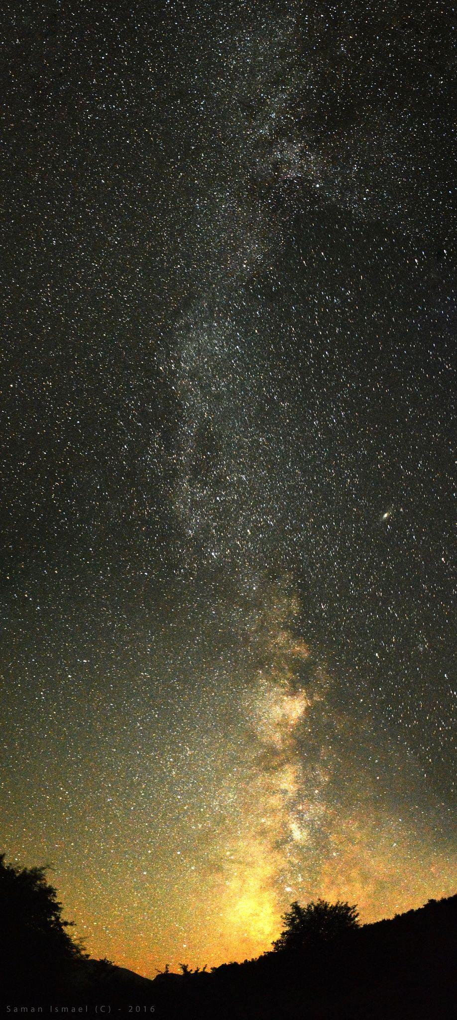 Between the super hologram  #galaxy #milkway #stars
