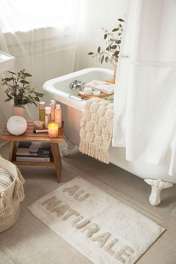 Au Naturale Bath Mat Dream Home In 2019 Bathroom