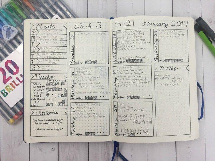 weekly tracker