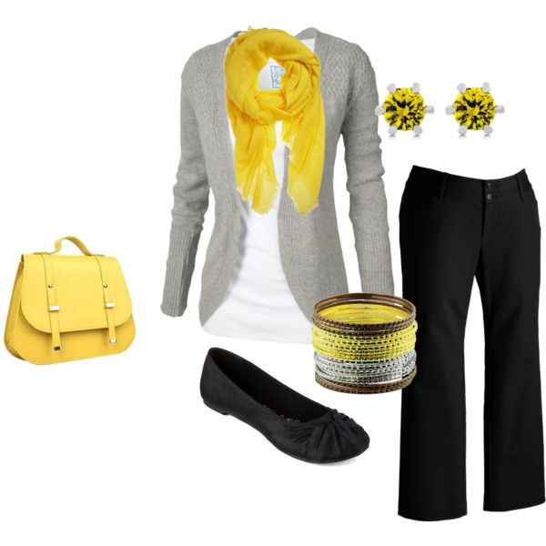 I heart grey and yellow.