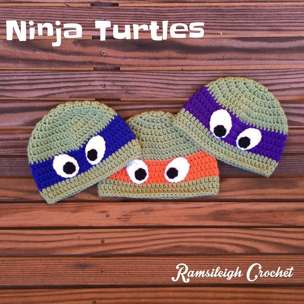 Ninja Turtle Hat {FREE PATTERN} | Hat slippers crochet | Pinterest ...