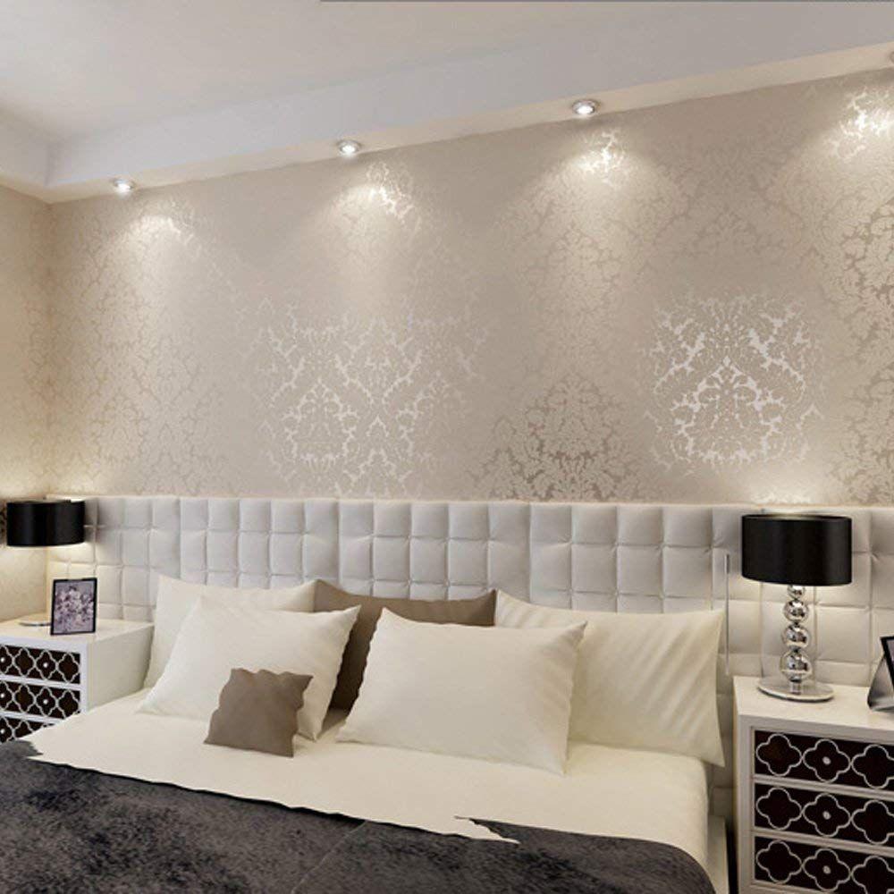 Creme Gemusterte Tapete Für Haus Design - Kleine Räume sind ...