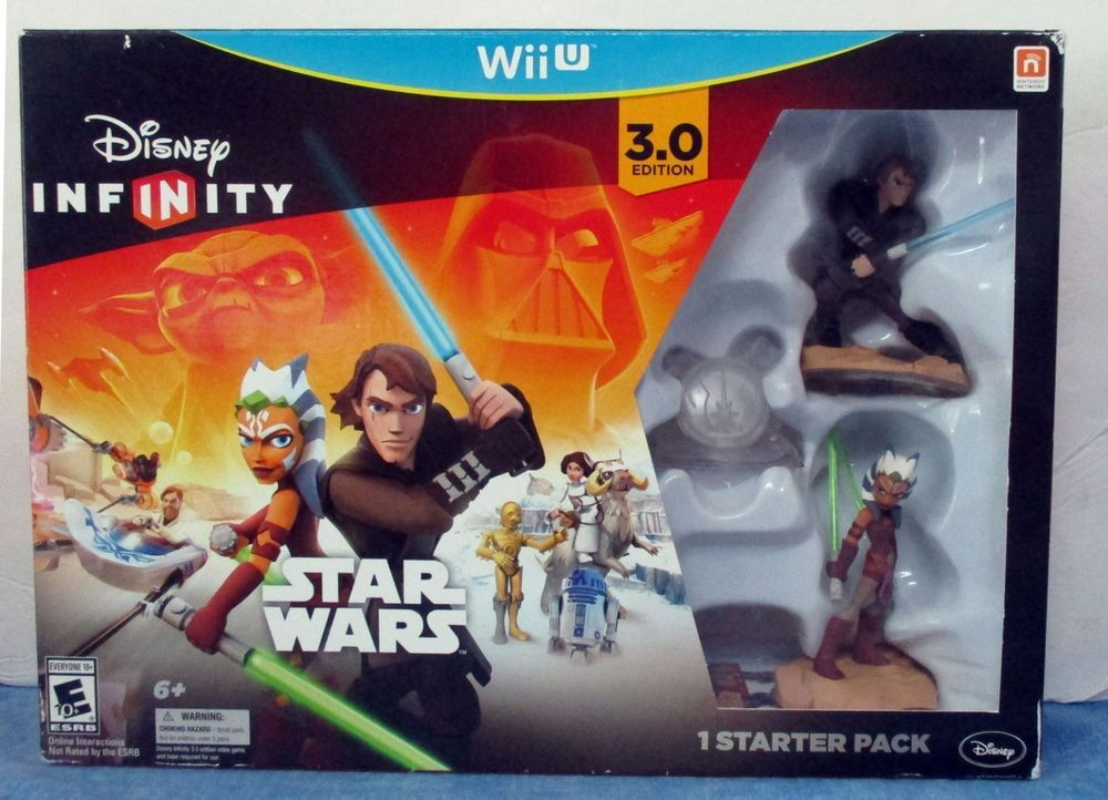 Nintendo Wii Disney Star Wars Infinity 3 0 Edition Starter Pack Rated E Sb7 Star Wars Xbox One Disney Infinity Star Wars Disney Infinity