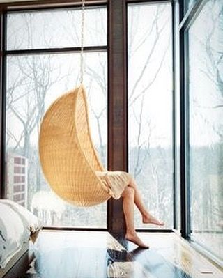 If you have latge windows and a great view it is to bad if you do not have egg chaur like this! Need it this gray morning! #view #chair #eggchair #leasure #coffietime #cozy #swing #architecturephotography #architecturelovers #architects #enteriordesign #enterior #lovely #inspirational #autumnview #inspiration