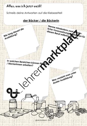 Ausbildung Zum Backer Arbeitsblatt 1 Unterrichtsmaterial Im Fach Arbeitslehre In 2021 Arbeitsblatter Ausbildung Arbeit