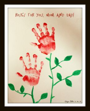 Hand Print Roses Craft Like It For Grandmother Gift Gift Ideas