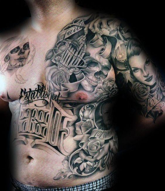 954706e45 90 Chicano Tattoos For Men - Cultural Ink Design Ideas | top nach ...