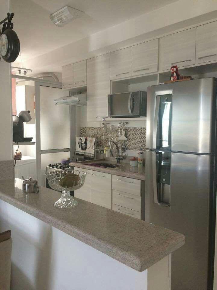 Inspira o muito legal para a cozinha p gina do facebook for Cocinas modernas para apartamentos pequenos