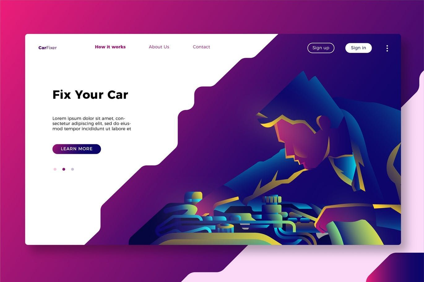 Banner Landing Page Header Creative Modern Illustration
