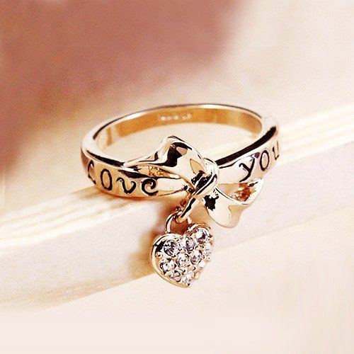 Cute New Fashion Gold Ring