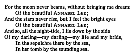 Love This Poem By Poe Bittersweet Quotes Annabel Lee Words