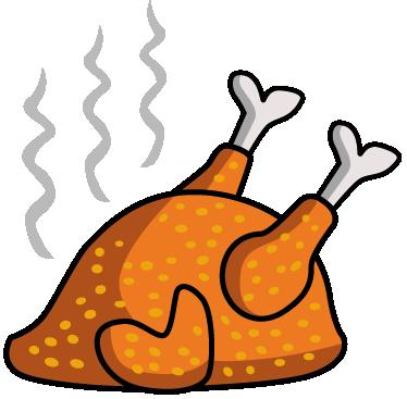 Vinilo Decorativo Pollo Asado Png 374 367 Pollo Dibujos De Comida Saludable Pollo Asado