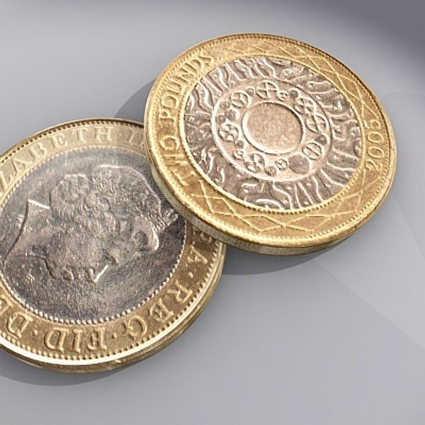 2 Pound Coin Coins Bank Notes Personalized Items