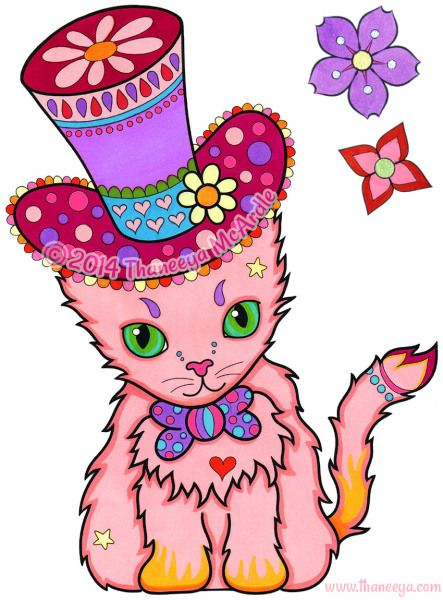 Dapper Cat From Thaneeya McArdles Animals Coloring Book