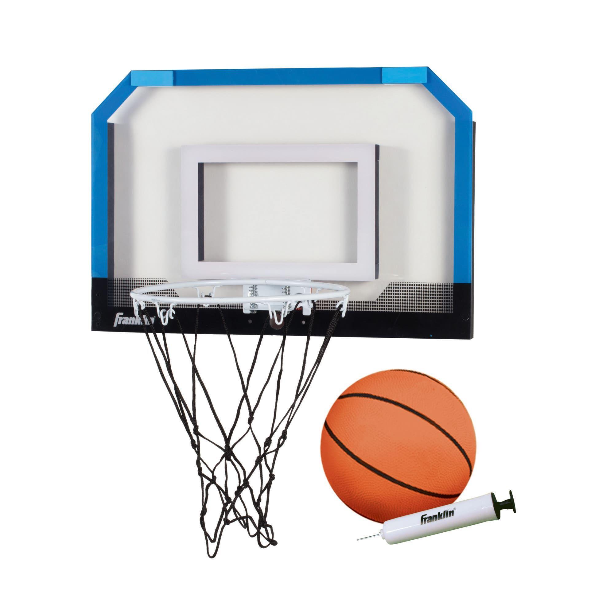 Franklin Sports Over The Door Indoor Basketball Hoop Kids Mini Hoop For Bedroom Steel Rim Mini Hoop Includes Ball And Pump Blue Walmart Com Mini Basketballs Basketball Indoor Basketball Hoop