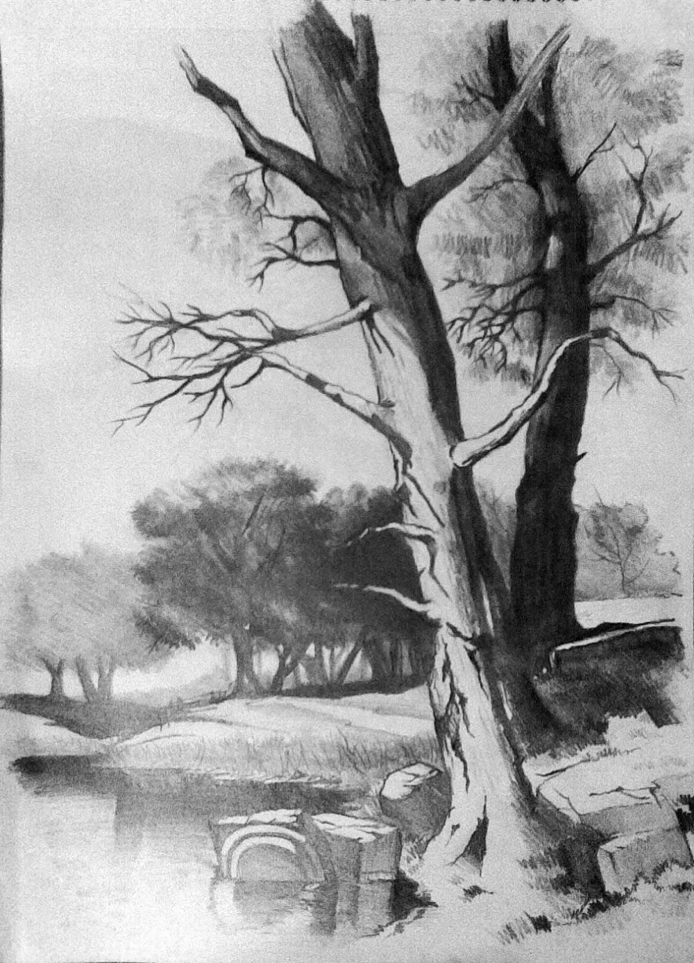 Scenery Pencil Drawings And Scenery Paintings Search Result At Paintingvalley Traditionalart Drawings Ca Landscape Drawings Drawing Scenery Scenery Paintings