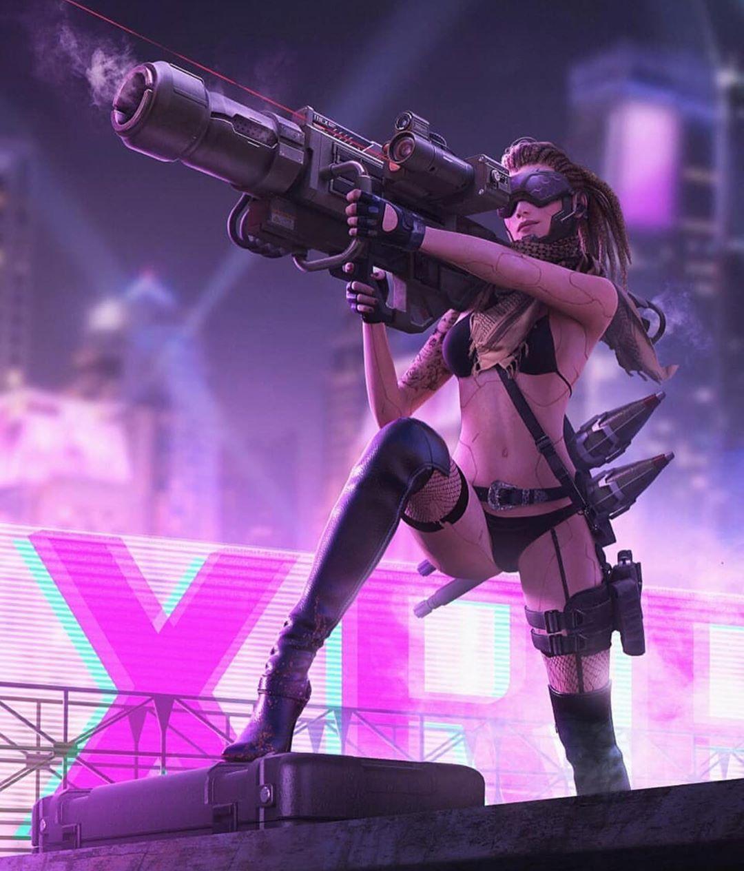 Pin de 林帆 张 em pose em 2020 imagens) Cyberpunk