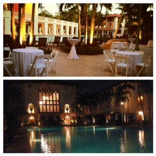 Today is 64 degrees, a magnificent day for an outdoor wedding reception at The Biltmore Hotel.