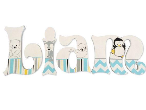 Baby animales Ártico Polar personalizado pintado a mano de vivero ...