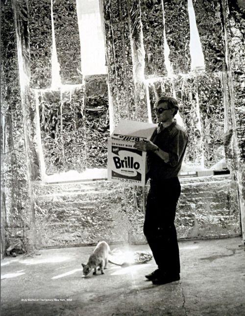 jockohomo:  Andy Warhol at The Factory, New York, 1964