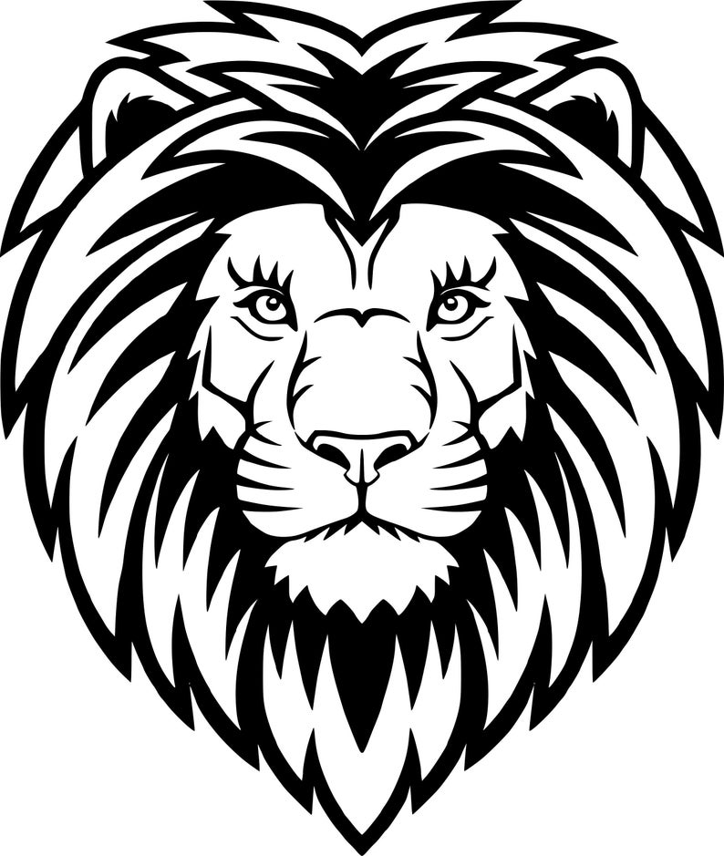 Lion Svglion Silhouette Svg Lion Clipartlion Pnglion Svg Etsy In 2021 Lion Face Drawing Lion Head Drawing Lion Drawing