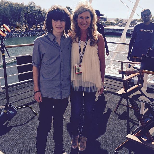 Chandler with mom | Chandler Riggs