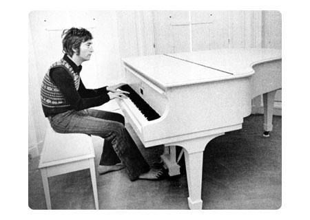 22nd July 1971, John and Yoko spent the second day filming the 'Imagine' promotional film at their home in Tittenhurst Park Ascot, England. Today's footage included the morning walk on the grounds though the mist and John Lennon singing 'Imagine' in the white room on his white piano. More on John Lennon: http://www.thisdayinmusic.com/pages/john_lennon_shot