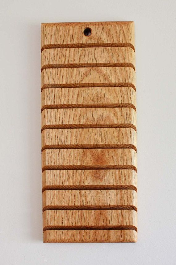 Wood Wall Mounted Quilters Ruler Holder Or Rack By