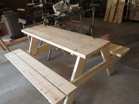 Easy Picnic Table For Eating Outside This Summer, Right In Your Own  Backyard.