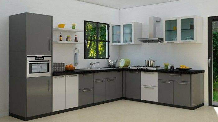 wohnideen küche kompakte küche in neutralen farben | küche möbel, Wohnideen design