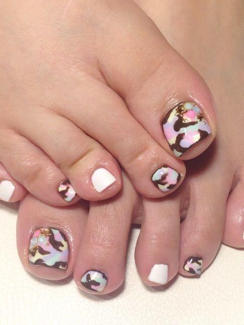 Pink Camo Nail Designo Cute Paws Claws Pinterest