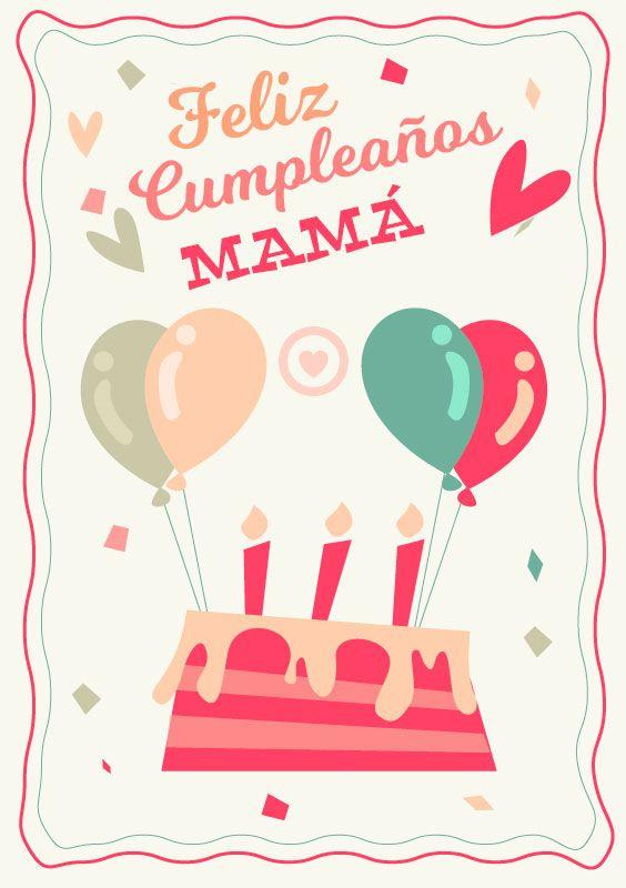 Resultado de imagen para feliz cumpleaños mama