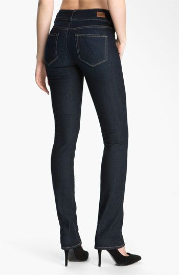 Paige 'Hidden Hills' Straight Leg Stretch Jeans (Fountain) available at #Nordstrom