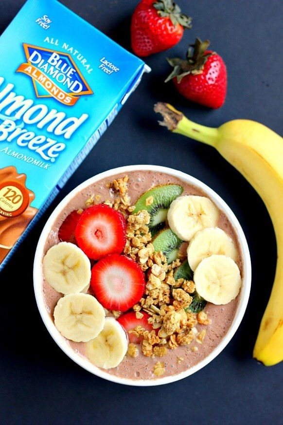 This Chocolate Peanut Butter Smoothie Bowl is jam-packed with nutrients, protein, and fuel to keep you going all day long. It contains just a few simple ingredients and is full of chocolate and creamy peanut butter. You'll never guess that this bowl is secretly healthy!