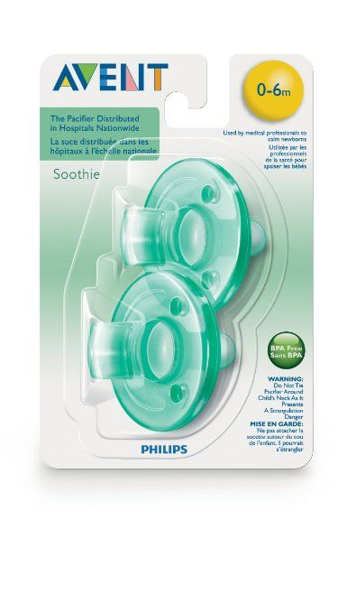 Amazon Com Philips 2 Pack Avent Soothie Pacifier Green 0 3