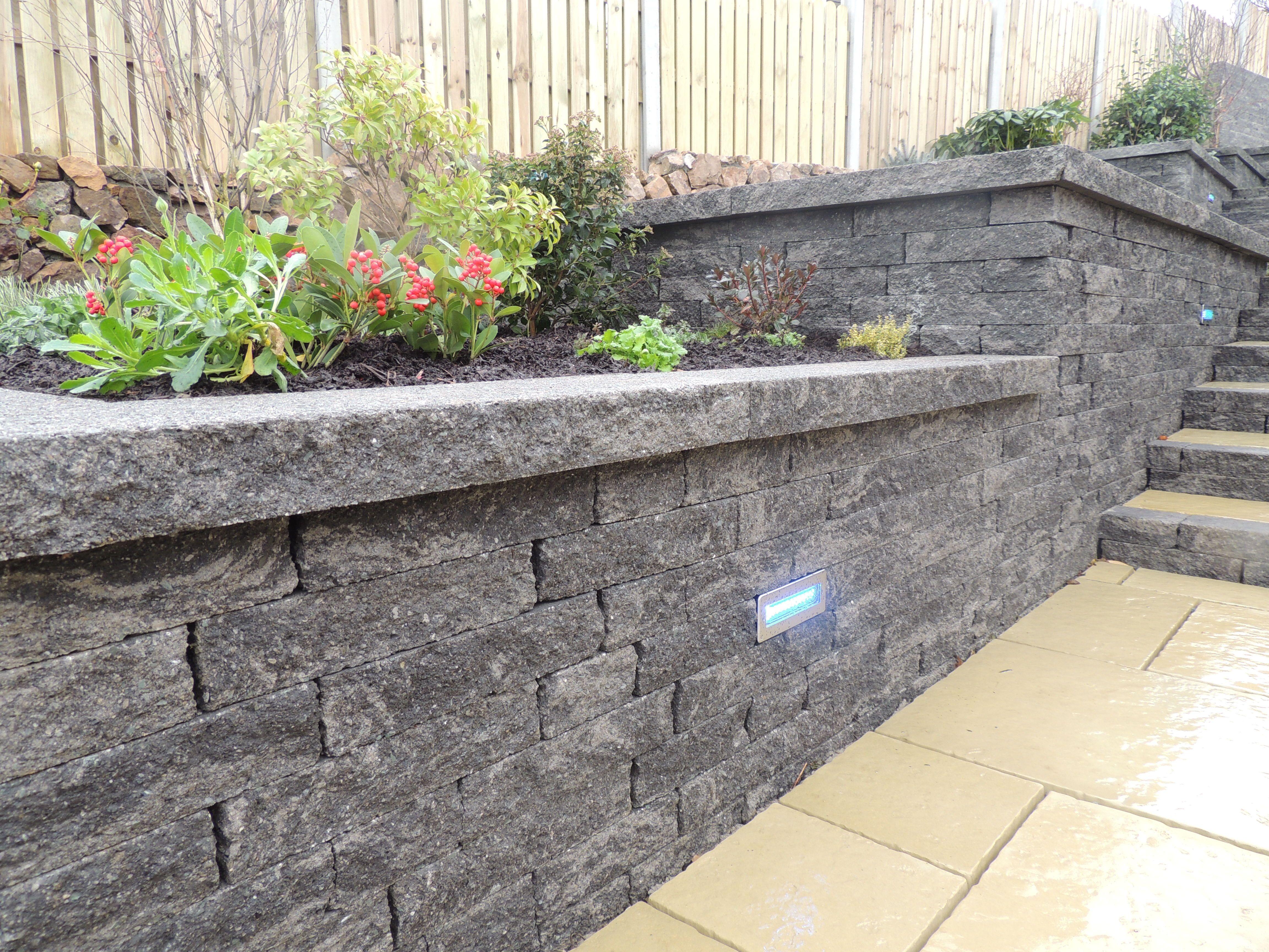 decorative garden wall spaces retainingwall pinterest