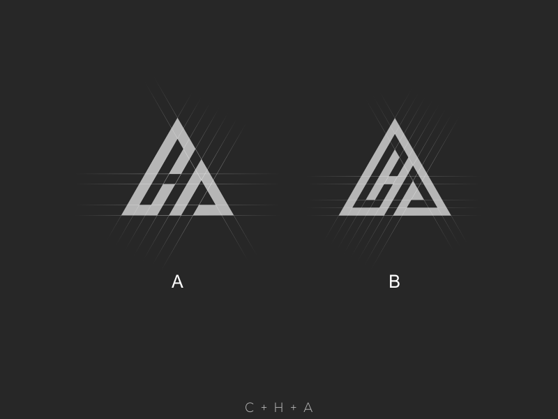 Cha Triangle Logo Triangle Logo Logo Word Logo Design Typography