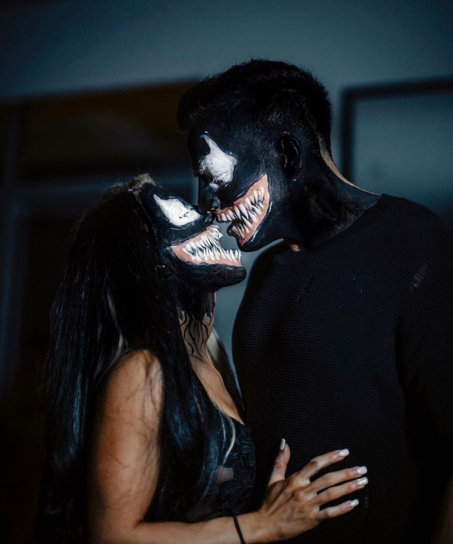 Venom Couples Costume Maquillaje halloween parejas