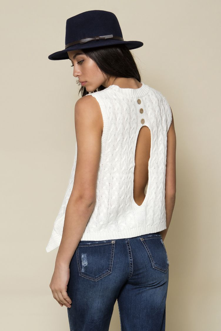 Knit Backless Top - ΡΟΥΧΑ -  Μπλούζες  2a42690970a