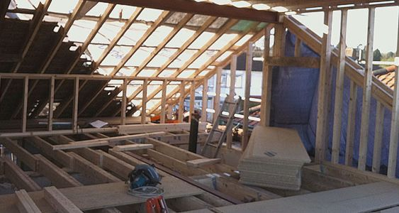 Loft conversion process goldhawk lofts dormer for Loft floor construction