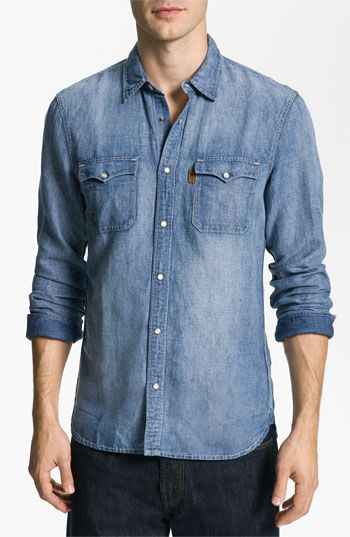4b04233d4a Burberry Brit Trim Fit Chambray Sport Shirt available in Men s Sportswear