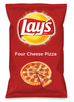 Wouldn't Four Cheese Pizza be yummy as a chip? Lay's Do Us A Flavor is back, and the search is on for the yummiest flavor idea. Create a flavor, choose a chip and you could win $1 million! https://www.dousaflavor.com See Rules.